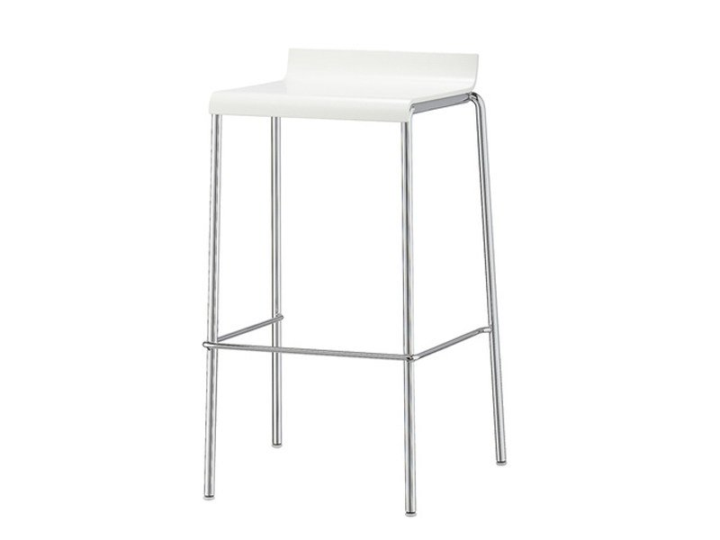 High plastic stool with footrest VERONA | Stool by Brunner