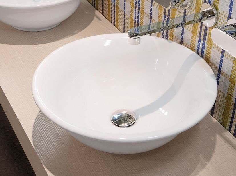 Countertop round ceramic washbasin BOLL | Countertop washbasin by CERAMICA FLAMINIA