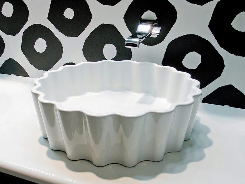 Countertop ceramic washbasin DOPPIO ZERO by CERAMICA FLAMINIA