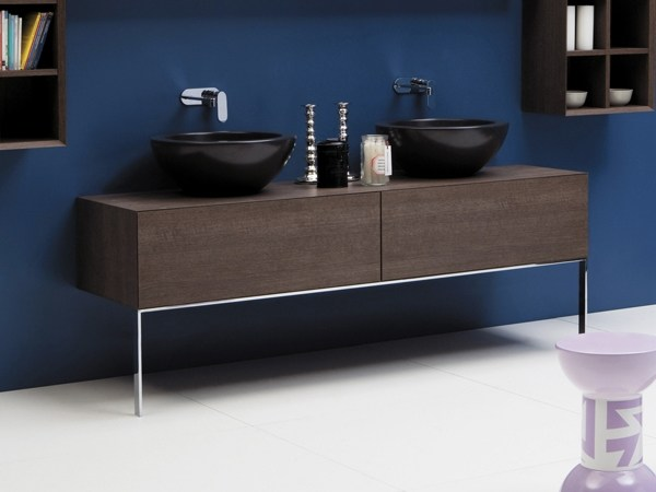 Floor-standing double wooden vanity unit with drawers COMPONO SYSTEM 180 | Vanity unit with drawers by Ceramica Flaminia