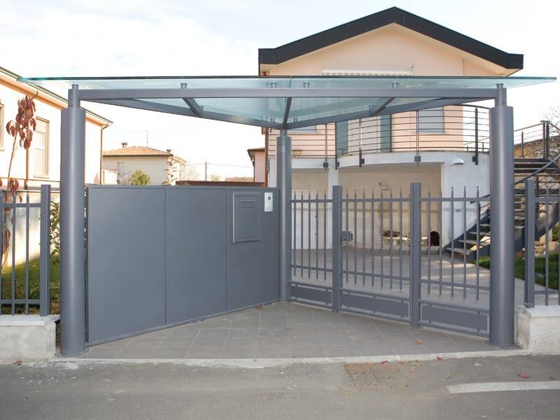 Iron door canopy Iron door canopy by QUARTIERI LUIGI