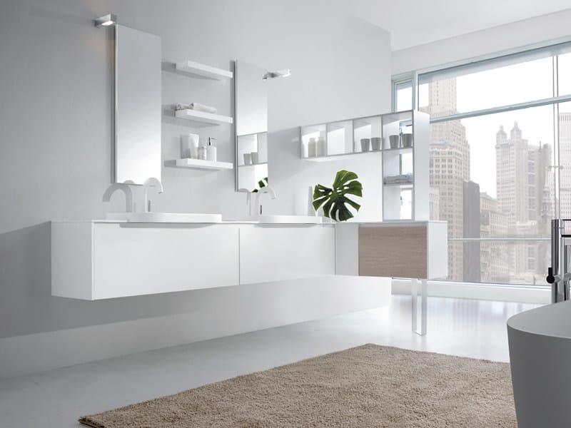 Double wall-mounted vanity unit METROPOLIS 01 by LASA IDEA