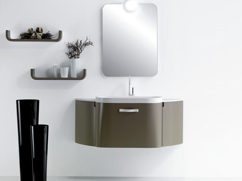 Single wall-mounted vanity unit METROPOLIS 7 by LASA IDEA