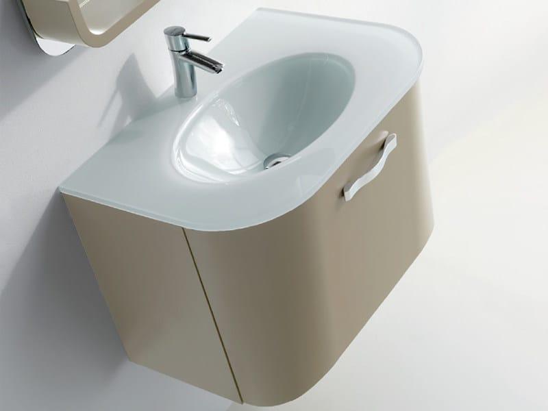 Lacquered single wall-mounted vanity unit METROPOLIS 8 | Vanity unit by LASA IDEA