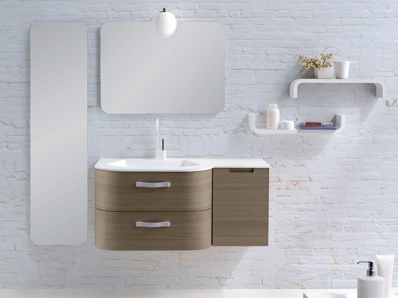Single wall-mounted vanity unit METROPOLIS 9 | Vanity unit by LASA IDEA