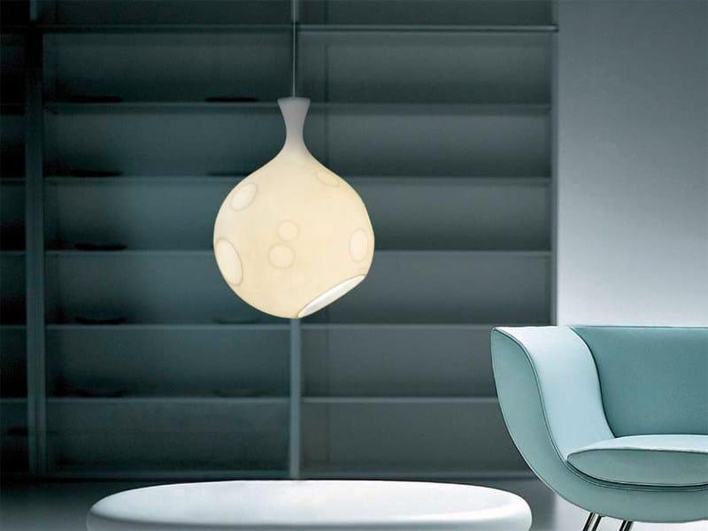 Indirect light polyethylene pendant lamp LUA | Pendant lamp by arturo alvarez