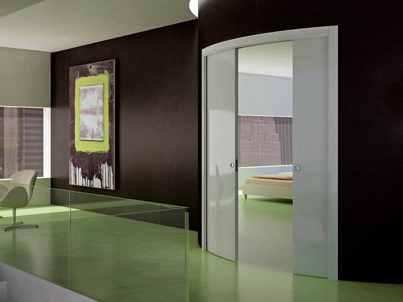Sliding system for two curved doors ARKIMEDE DOUBLE DOOR by Ermetika & Sliding system for two curved doors ARKIMEDE DOUBLE DOOR By Ermetika Pezcame.Com
