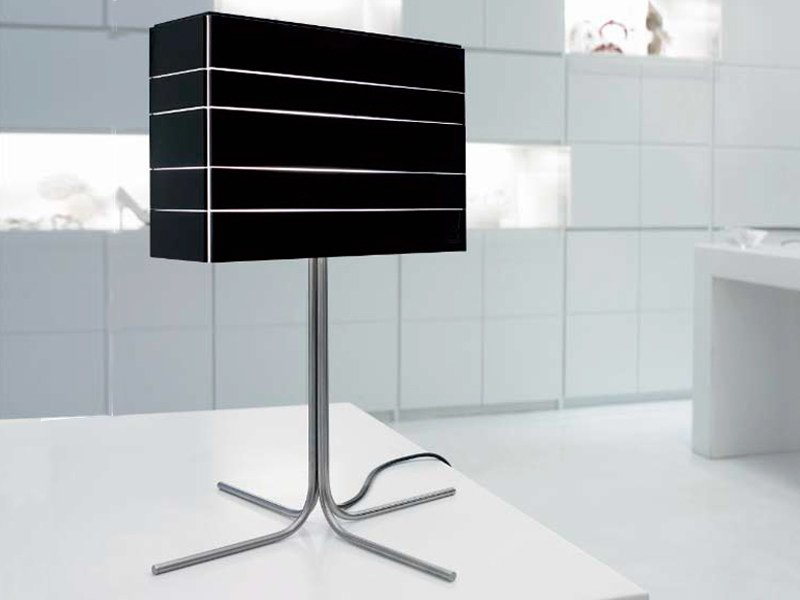 Indirect light stainless steel table lamp with fixed arm NORMAN   Table lamp by arturo alvarez