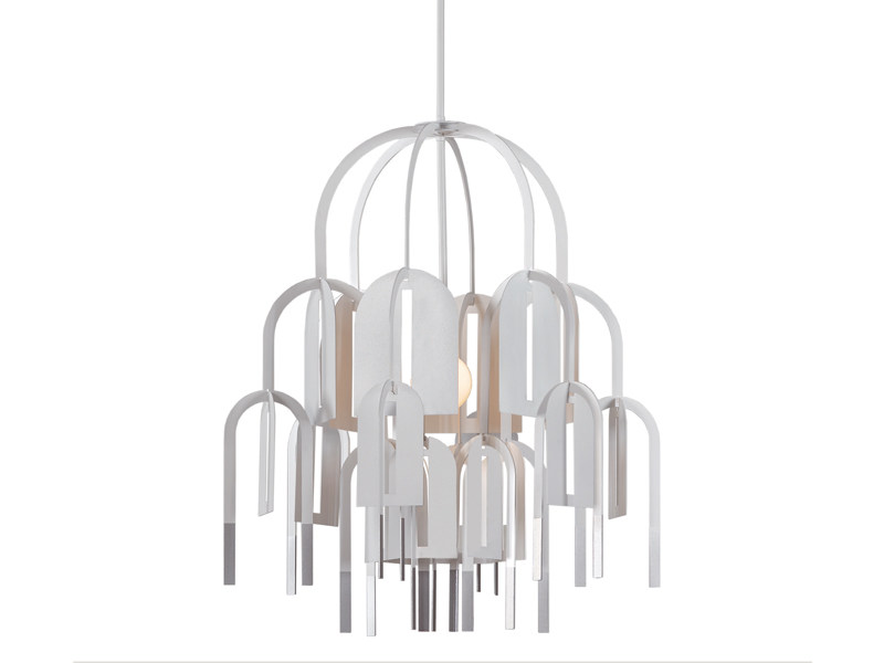 Adjustable steel pendant lamp RHIZOME   Pendant lamp by arturo alvarez