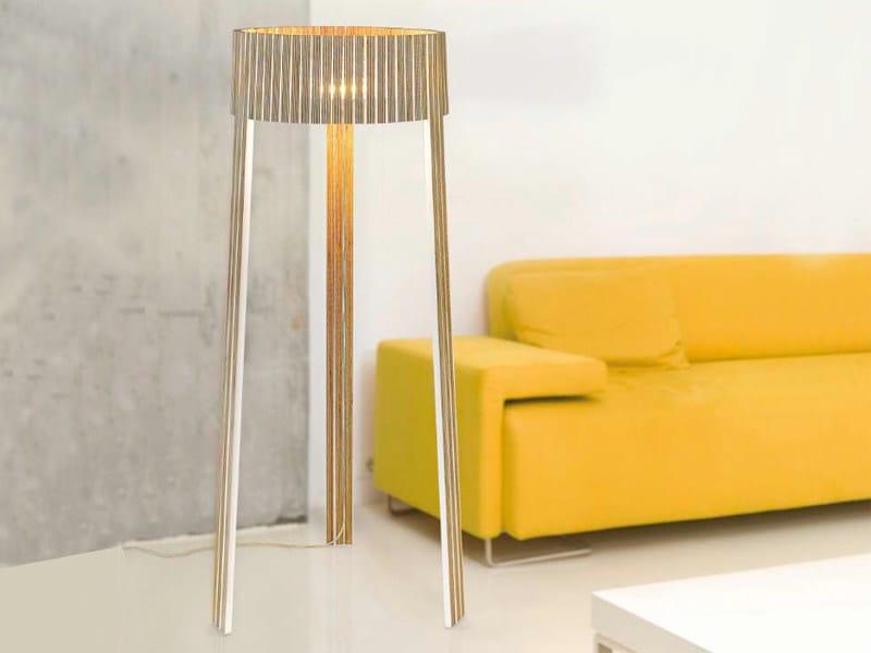 Multi-layer wood floor lamp SHIO   Floor lamp by arturo alvarez