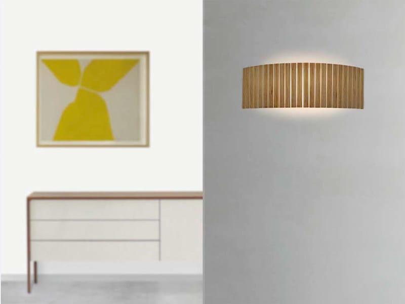 Multi-layer wood wall lamp SHIO | Wall lamp by arturo alvarez