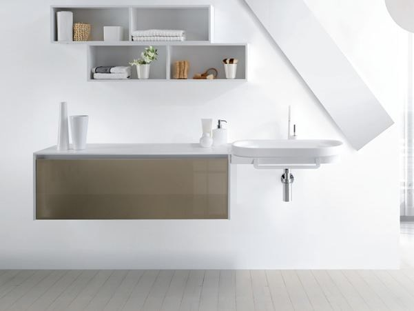Single wall-mounted vanity unit METROPOLIS 16 by LASA IDEA