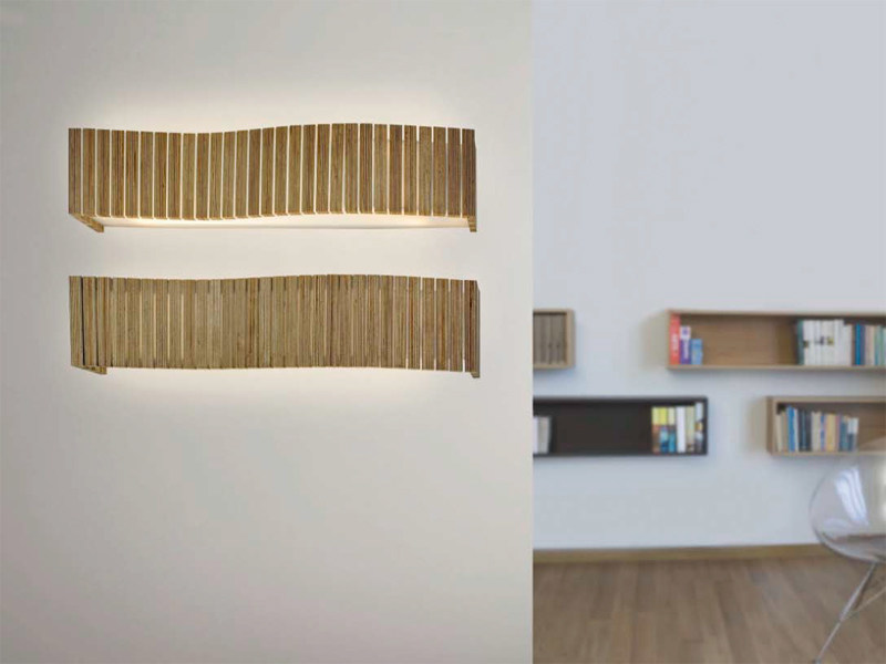 Multi-layer wood wall lamp UXI | Wall lamp by arturo alvarez