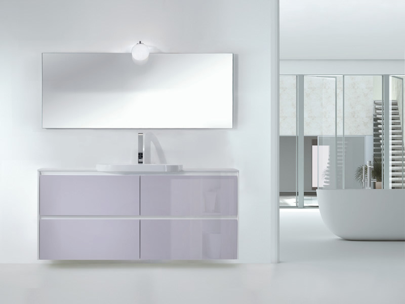Single wall-mounted vanity unit METROPOLIS 18 by LASA IDEA