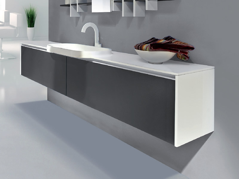 Single wall-mounted vanity unit with drawers METROPOLIS 20 by LASA IDEA