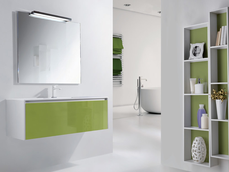 Wall-mounted vanity unit METROPOLIS 21 by LASA IDEA