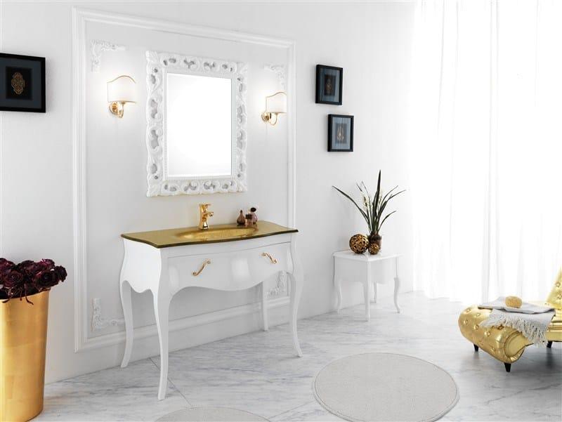 Wooden vanity unit VANITY 6 by LEGNOBAGNO