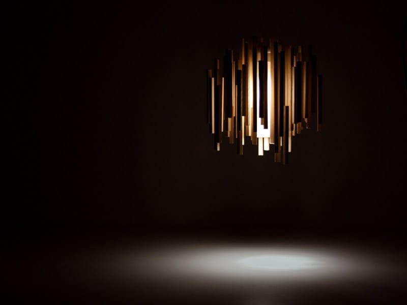 Direct-indirect light wooden pendant lamp WOODS   Pendant lamp by arturo alvarez