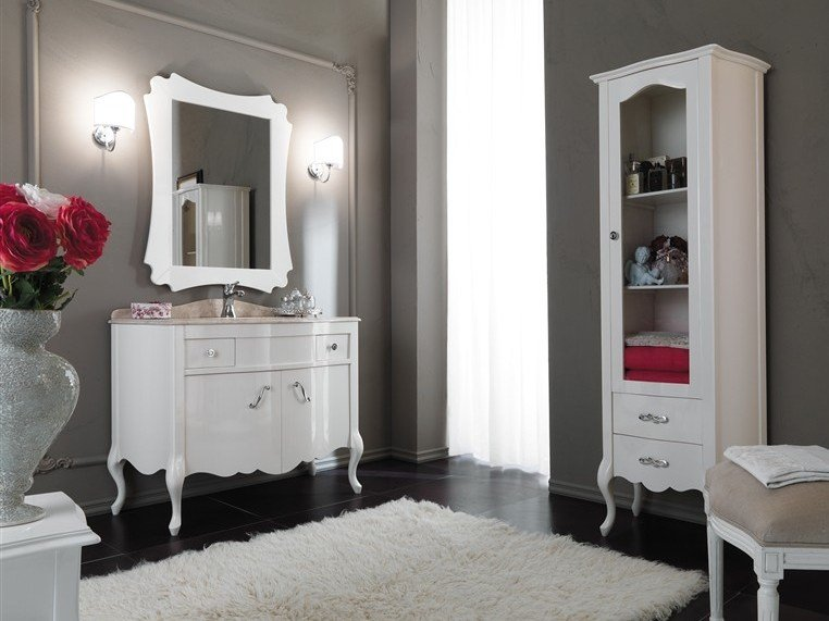 Lacquered vanity unit NARCISO 4 by LEGNOBAGNO