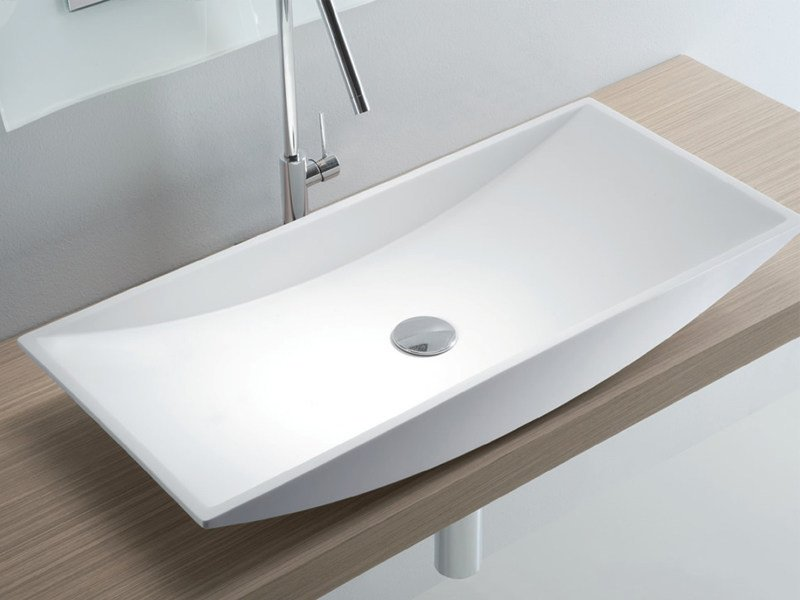 Countertop rectangular Tecnoril® washbasin CLUB by LASA IDEA