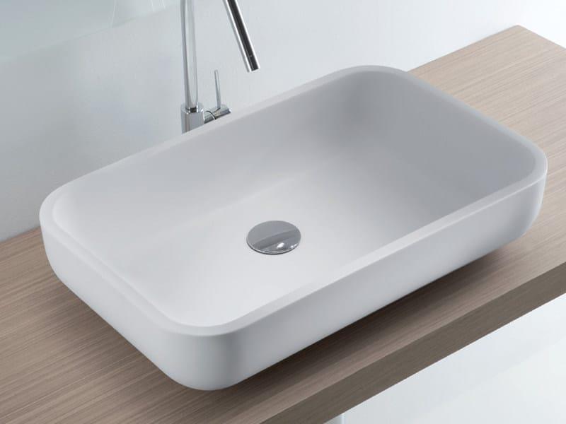 Countertop Tecnoril® washbasin MOOD by LASA IDEA