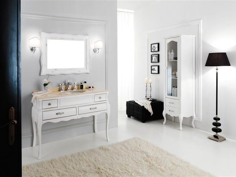 Wooden vanity unit VOGUE 3 by LEGNOBAGNO