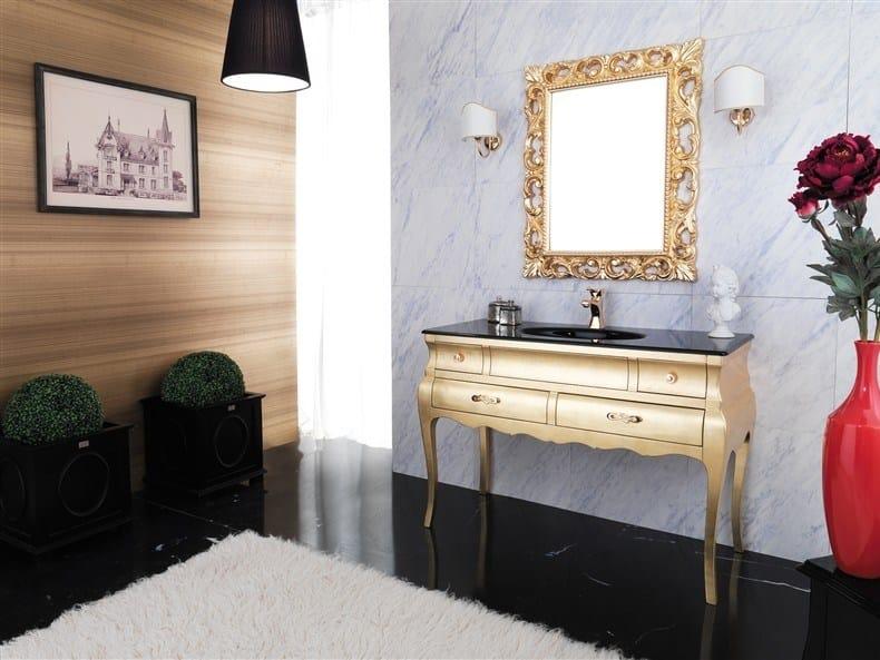 Wooden vanity unit VOGUE 4 by LEGNOBAGNO
