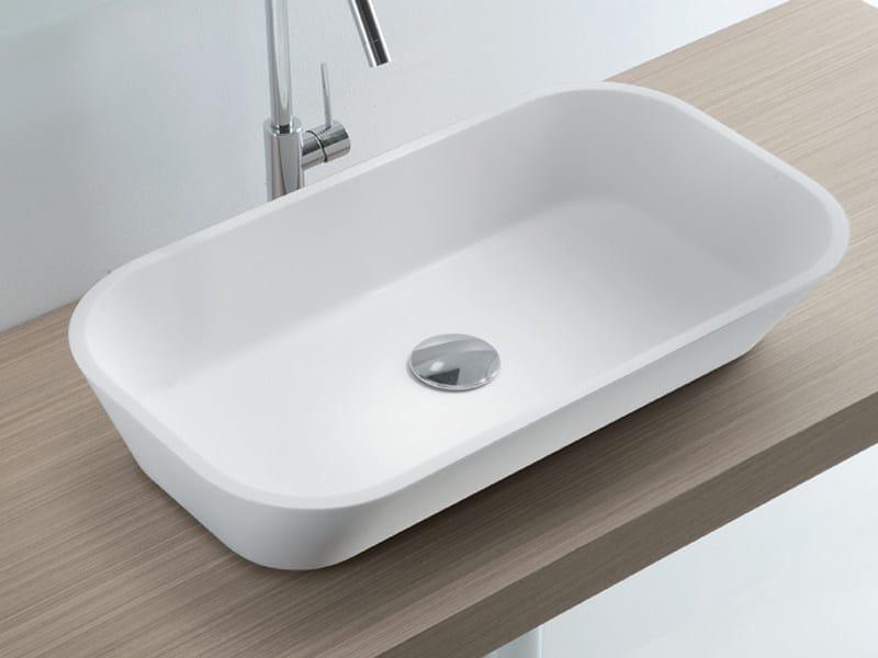 Countertop Tecnoril® washbasin ORANGE by LASA IDEA