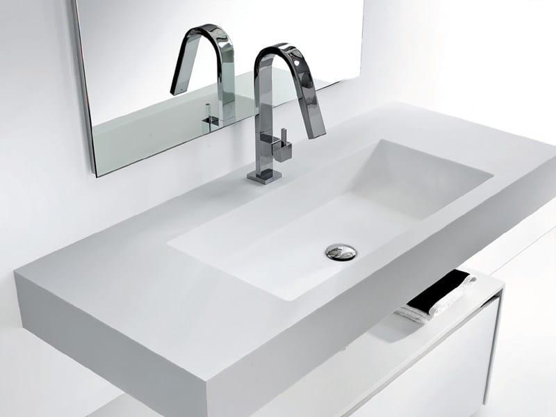 Rectangular Tecnoril® washbasin METROPOLIS | Washbasin by LASA IDEA