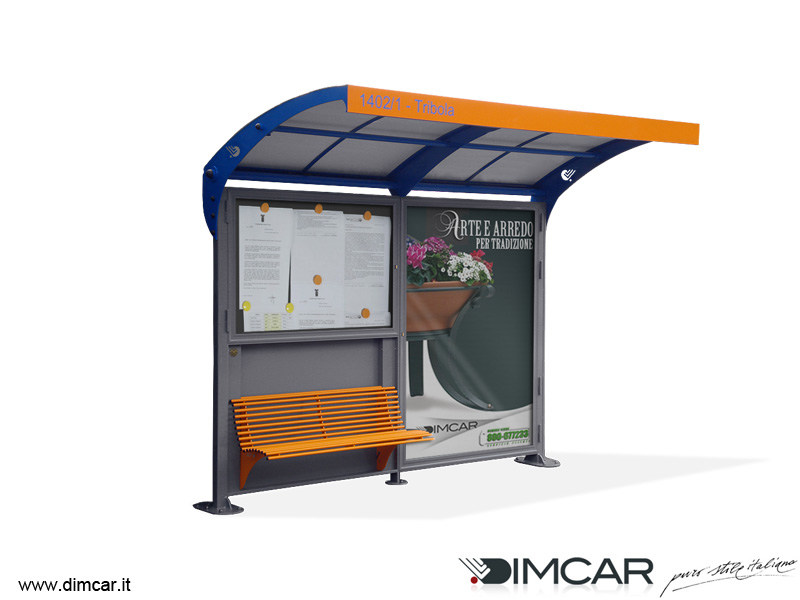 Porch with built-in lights for bus stop Pensilina Romagna by DIMCAR