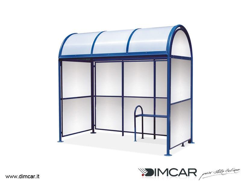 Metal porch for bus stop Pensilina Genova by DIMCAR