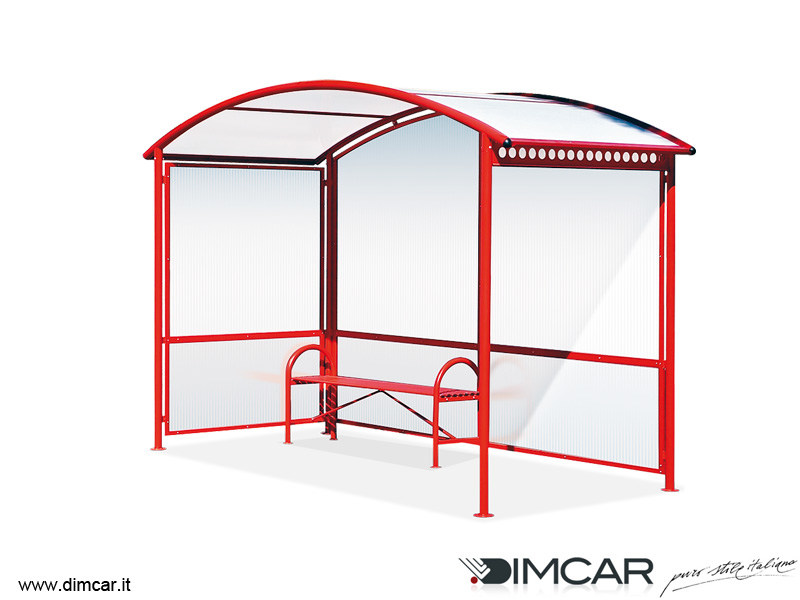 Metal porch for bus stop Pensilina Aurora by DIMCAR