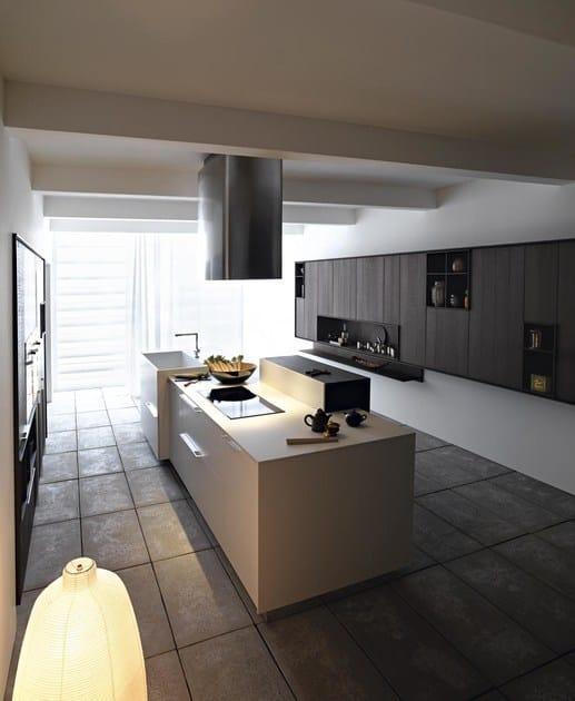 Cucina con isola kalea composizione 5 by cesar for Bf arredamenti