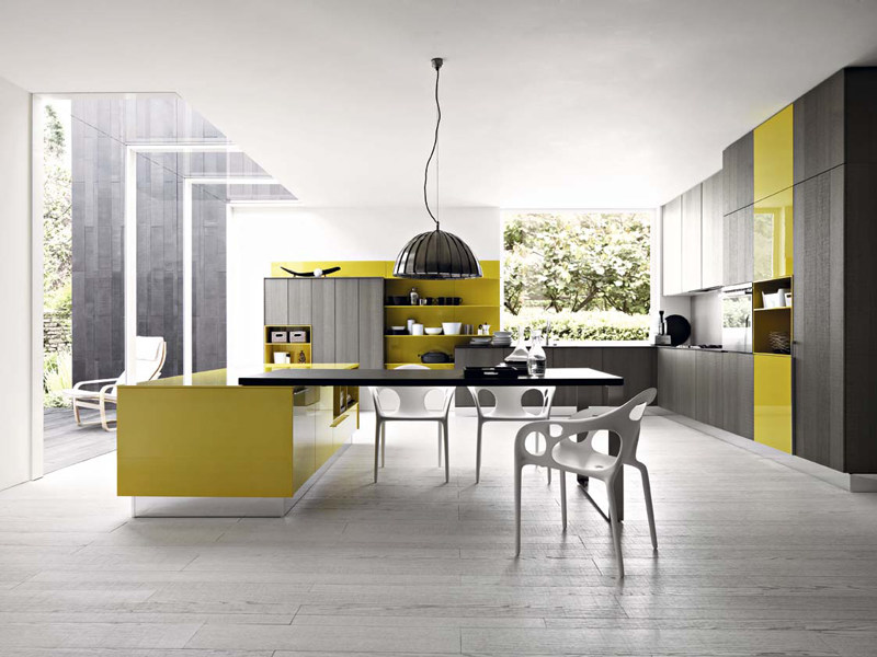 Fitted kitchen with island KALEA - COMPOSITION 6 by Cesar Arredamenti