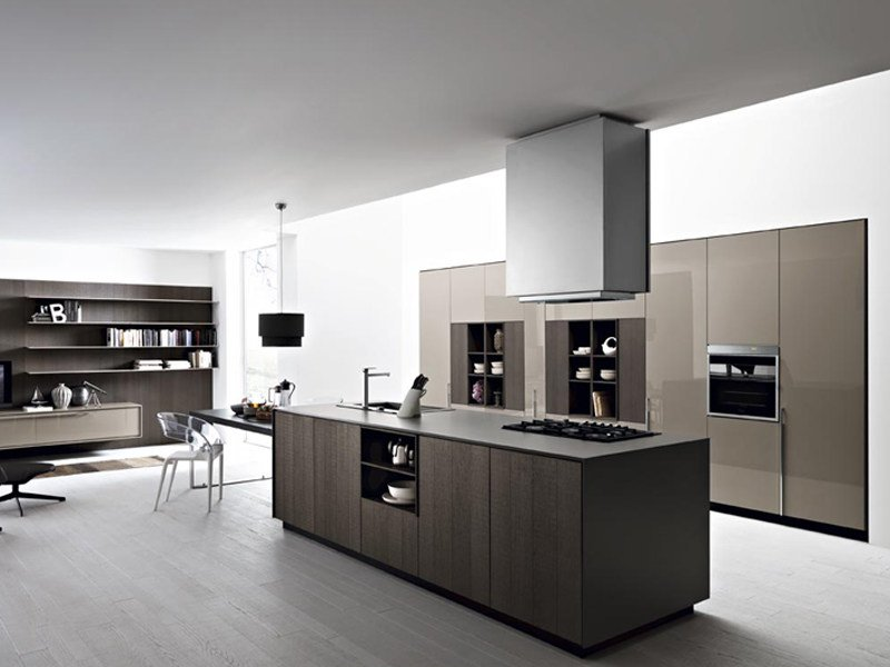 Fitted kitchen with island KALEA - COMPOSITION 3 by Cesar Arredamenti