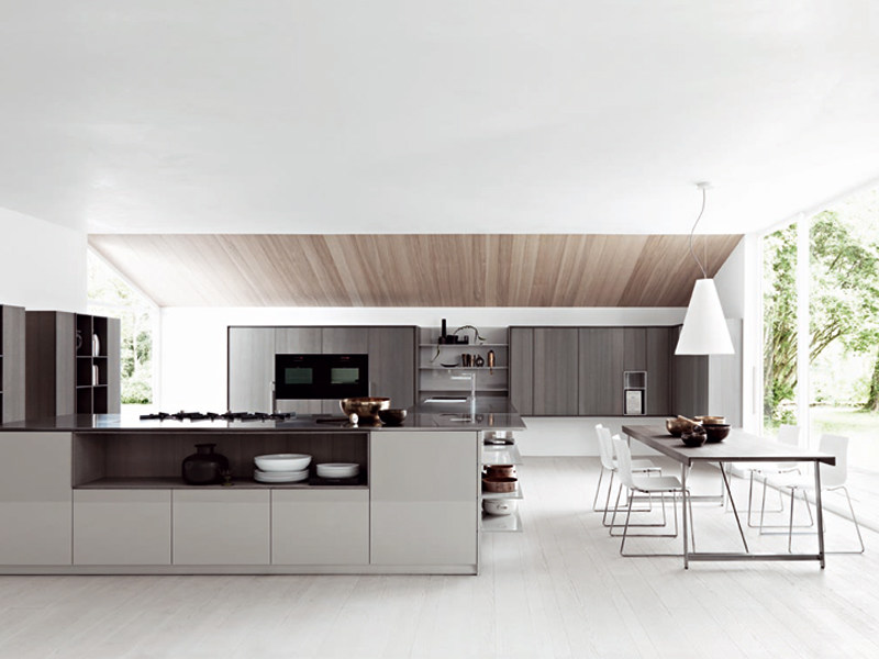 Fitted kitchen with island KALEA - COMPOSITION 2 by Cesar Arredamenti