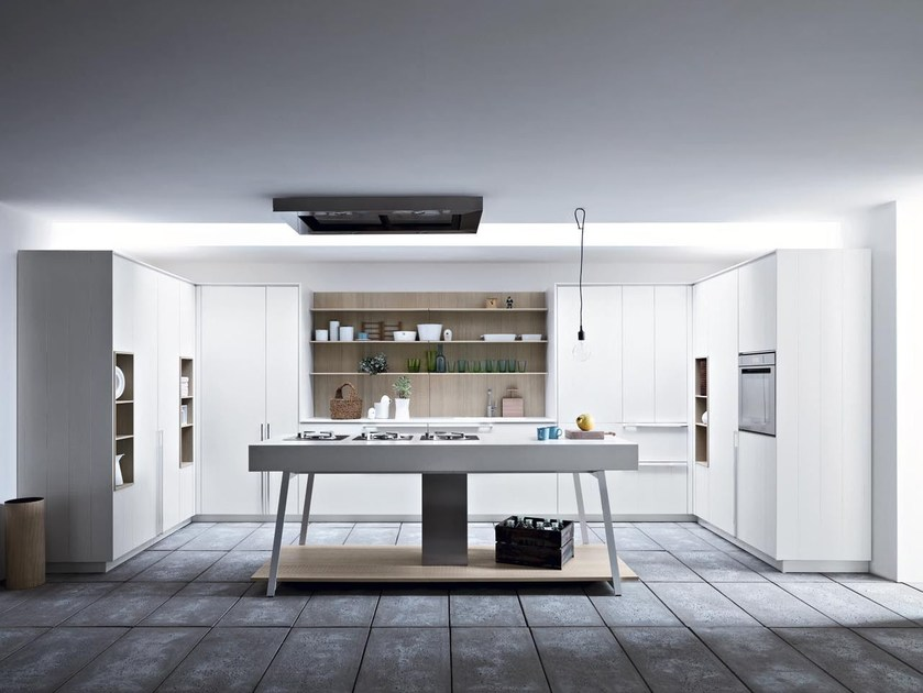 Fitted kitchen with island KALEA - COMPOSITION 4 by Cesar Arredamenti