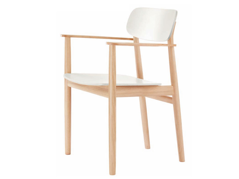 Solid wood chair 130 F by THONET