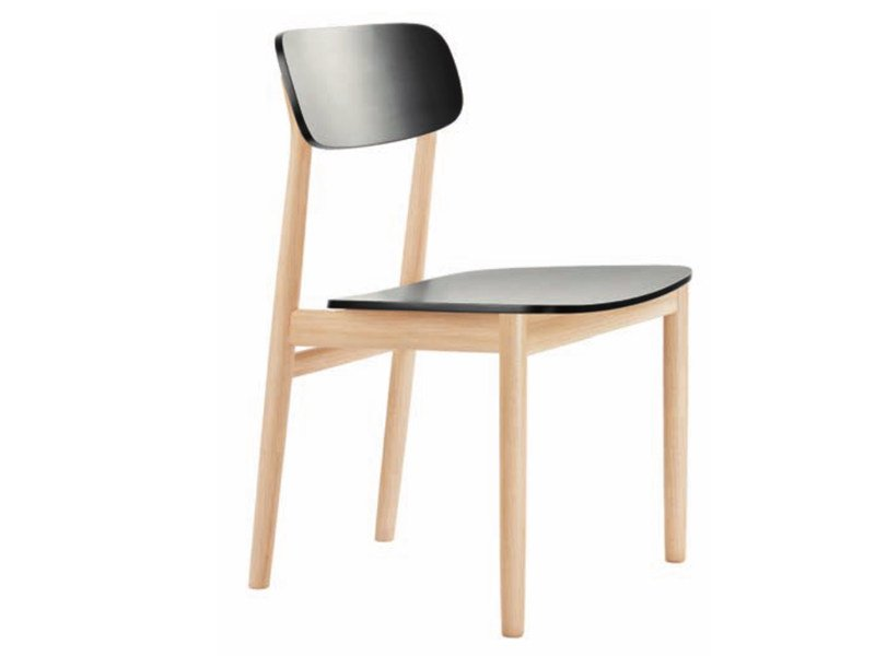 Solid wood chair 130 by THONET