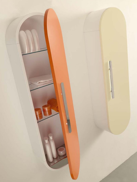 Tall suspended wall cabinet FLUX_US | Wall cabinet by LASA IDEA