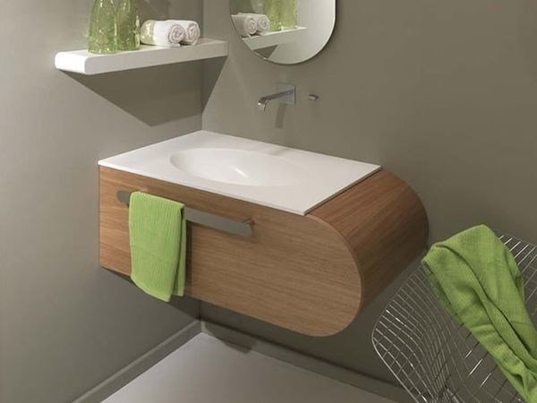 Corner single wall-mounted vanity unit FLUX_US 8 by LASA IDEA