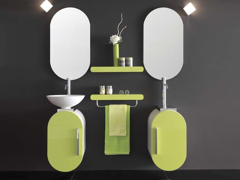 Single wall-mounted vanity unit FLUX_US 14 by LASA IDEA