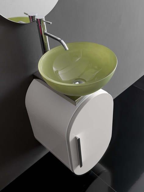 """Lavabo/Wash basin """"CV/02"""" ø 37 cm. x 16,5 h. in cristallo verde menta"""