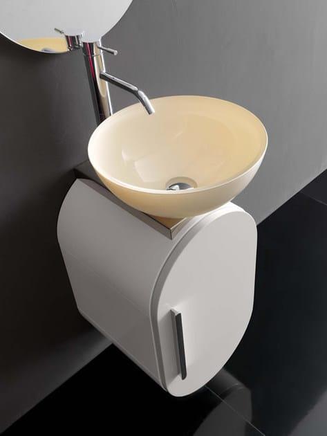 """Lavabo/Wash basin """"CV/02"""" ø 37 cm. x 16,5 h. in cristallo madreperla"""