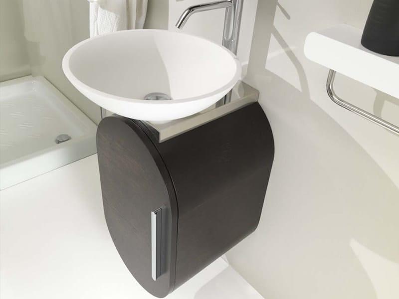 Single wall-mounted vanity unit FLUX_US 16 by LASA IDEA
