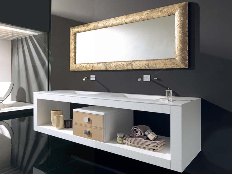 Double vanity unit with drawers IKS 20 by LASA IDEA