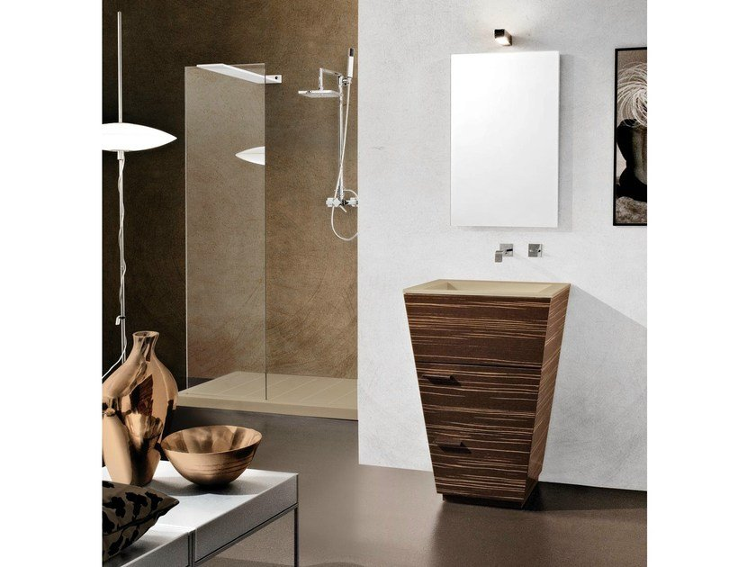 Floor-standing single vanity unit with drawers LIBECCIO 5 by LASA IDEA