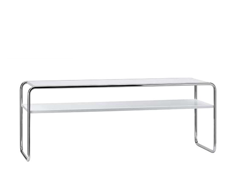 Coffee table with integrated magazine rack for living room B20 | Coffee table with integrated magazine rack by THONET