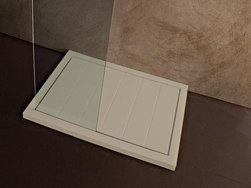 Rectangular resin shower tray LIBECCIO | Shower tray by LASA IDEA