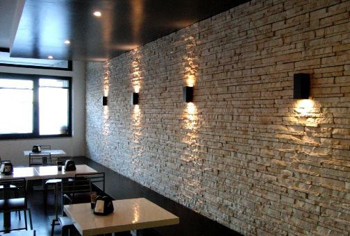 Revestimiento de pared imitaci n piedra scaglia asiago by for Revestimiento pared piedra